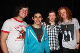 David with members of We the Kings