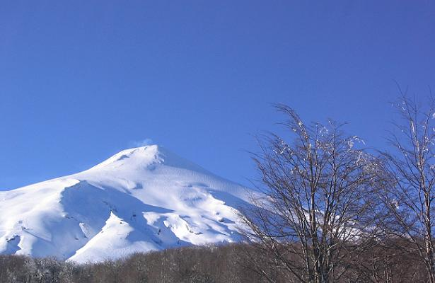 The active Volcán Villarica, just outside of Pucón