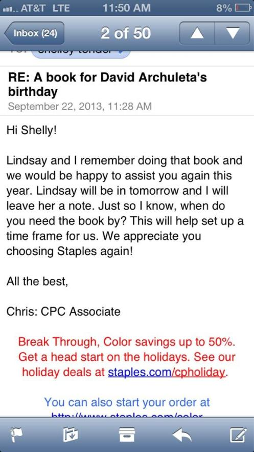 david 23 bday staples message BUyPsSFCIAAFne3