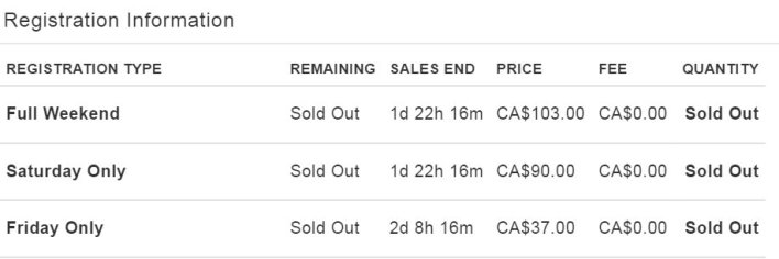 canada tofw soldout