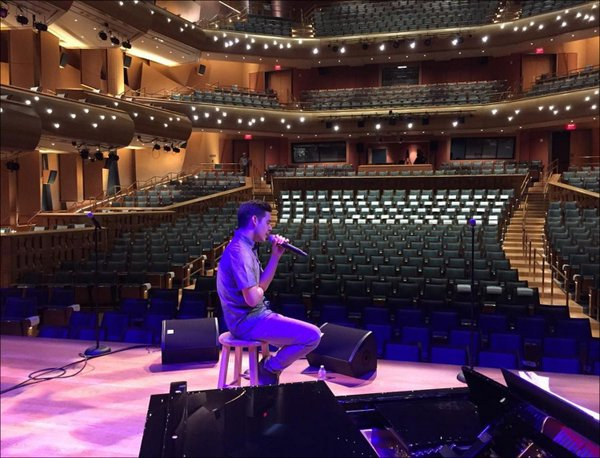 chapman stage rehearsal pic